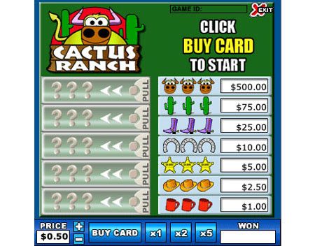 bingo cabin cactus ranch online instant win game