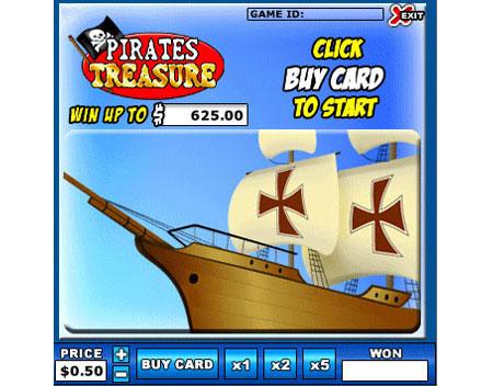 bingo cabin pirates treasure online instant win game