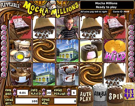 bingo cabin mocha millions 5 reel online slots game