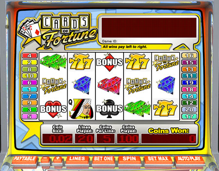 bingo cabin cards of fortune 5 reel online slots game