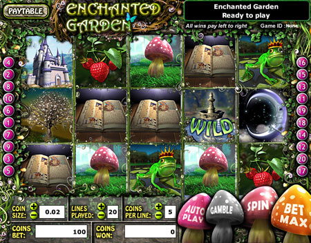 bingo cabin enchanted garden 5 reel online slots game
