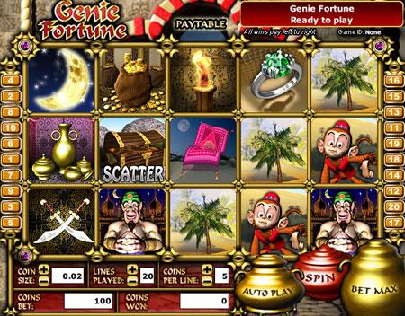 bingo cabin genie fortune 5 reel online slots game