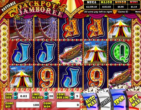 bingo cabin jackpot jamboree 5 reel online slots game