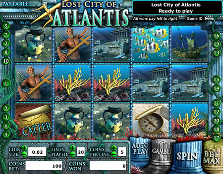 bingo cabin lost city of atlantis 5 reel online slots game