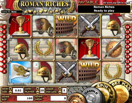 bingo cabin roman riches 5 reel online slots game