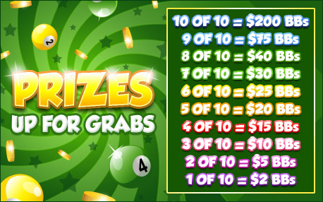 bingo cabin promo pot of gold prizes